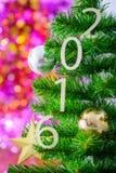 Árbol de navidad adornado Imagen de archivo libre de regalías