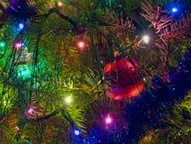 Árbol de navidad adornado Imágenes de archivo libres de regalías