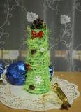Árbol de navidad Adornamiento de la casa para el día de fiesta Imagen de archivo libre de regalías