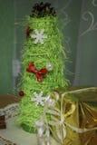 Árbol de navidad Adornamiento de la casa para el día de fiesta Imagenes de archivo