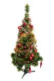 Árbol de navidad aislado en blanco fotos de archivo