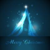 Árbol de navidad artístico Foto de archivo