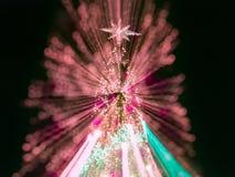 Árbol de navidad artificial del pino Imagenes de archivo