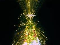Árbol de navidad artificial del pino Fotos de archivo libres de regalías