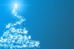 Árbol de navidad azul abstracto Imagen de archivo libre de regalías