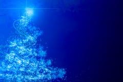 Árbol de navidad azul abstracto Imágenes de archivo libres de regalías