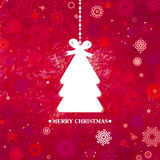Árbol de navidad azul adornado. EPS 8 Foto de archivo libre de regalías