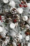Árbol de navidad blanco Fotografía de archivo