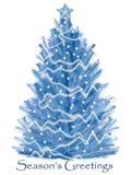 Árbol de navidad blanco stock de ilustración