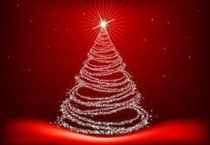 Árbol de navidad blanco Imagenes de archivo