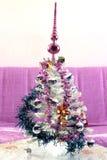 Árbol de navidad blanco Foto de archivo