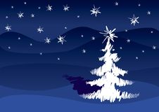 Árbol de navidad blanco Imagen de archivo libre de regalías