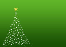 Árbol de navidad blanco en verde Imágenes de archivo libres de regalías