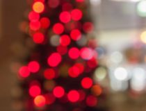 Árbol de navidad Bokeh Imágenes de archivo libres de regalías