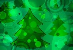 Árbol de navidad Bokeh ilustración del vector