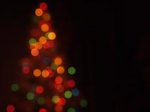 Árbol de navidad Bokeh Fotografía de archivo