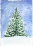 Árbol de navidad bosquejo ilustración del vector