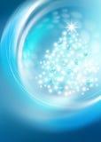 Árbol de navidad brillante Foto de archivo libre de regalías