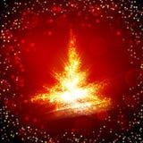 Árbol de navidad brillante Fotografía de archivo