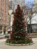 Árbol de navidad de Chicago imágenes de archivo libres de regalías