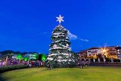 Árbol de navidad, ciudad de Gramado, Río Grande del Sur - el Brasil Fotografía de archivo