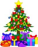 Árbol de navidad colorido stock de ilustración