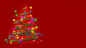 Árbol de navidad colorido abstracto creciente artístico con la animación creativa ilustración del vector
