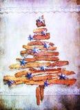 Árbol de navidad colorido con las estrellas Imagenes de archivo