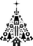 Árbol de navidad compuesto  Fotografía de archivo libre de regalías