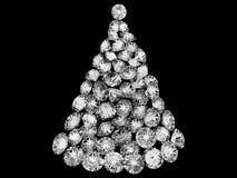 Árbol de navidad compuesto de diamantes Foto de archivo libre de regalías