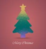 Árbol de navidad con el polígono Fotografía de archivo libre de regalías