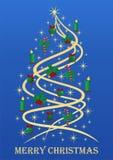 Árbol de navidad con estilo ilustración del vector