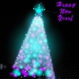Árbol de navidad con fotográfico borroso Libre Illustration