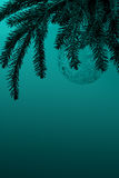 Árbol de navidad con la cabeza marina del tono de la decoración transparente de la bola Fotografía de archivo
