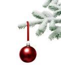 Árbol de navidad con la chuchería Imagen de archivo libre de regalías
