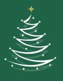 Árbol de navidad con la estrella Fotos de archivo