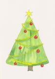 Árbol de navidad con la estrella Imagen de archivo libre de regalías