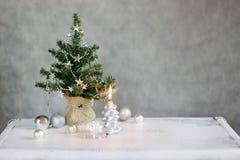 Árbol de navidad con la vela Fotografía de archivo libre de regalías