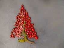 Árbol de Navidad con las bayas Foto de archivo libre de regalías