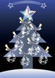 Árbol de navidad con las bolas. Fotografía de archivo