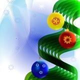 Árbol de navidad con las bolas Imágenes de archivo libres de regalías