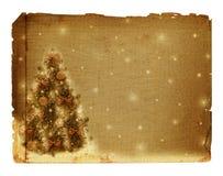 Árbol de navidad con las bolas y los arqueamientos Fotografía de archivo