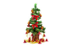 Árbol de navidad con las campanas Imágenes de archivo libres de regalías