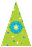 Árbol de navidad con las estrellas Fotografía de archivo