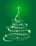 Árbol de navidad con las estrellas ilustración del vector