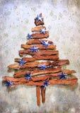 Árbol de navidad con las estrellas Fotografía de archivo libre de regalías
