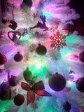 Árbol de navidad con las luces Fotografía de archivo libre de regalías