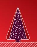Árbol de navidad con las velas y las bolas decorativas ilustración del vector