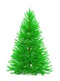 Árbol de navidad con los ornamentos coloridos Fotografía de archivo