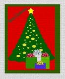 Árbol de navidad con los presentes ilustración del vector
